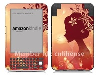 Woman Painting Back Decal Skin Sticker for Amazon Kindle3 (HOT!!!)