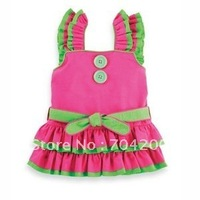 12pcs/lot-Sleeveless babysuits/Baby Rompers/Christmas Girl's dress/Santa Girl's clothing