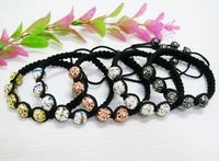 Hot ! Lowest price ! Fashion stretch shamballa bracelet.shamballa crystal ball bracelet.free shipping