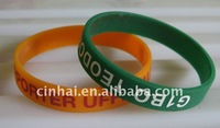 1 color logo printing Silicone Wristband in high quality