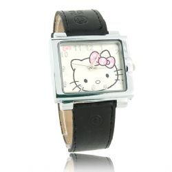608 Hello Kitty Square Leather Band Quartz Watch 4 color for gift