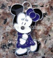 Free Shipping 100Pcs/Lots Zinc Alloy Metal Enamel lovely mouse Charms Pendants