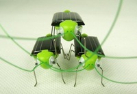 Wholesale 150pcs/lot 100% Brand New Novelty Solar Grasshopper Intelligent Toy Educational Toy