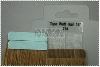 italy tape 100% chinese velvet virgin remy tape weft in hair textension  #12 18inch