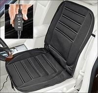 Winter Car Heated Seat Cushion Hot Cover Auto 12V Heat Heating Warmer Pad- Black Smooth/Plush Leopard Stripe