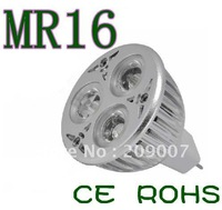 On sales Led Spotlight 12V 3x2W MR16 6W LED ceiling down light bulb lamp also have GU10 E27 base