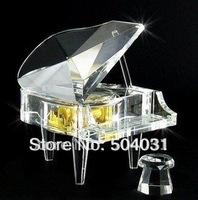 crystal music box crystal piano crystal gifts