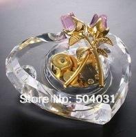wholesale crystal music box crystal heart crystal gifts