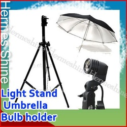 New Photo Studio Light Stand Umbrella Bulb Socket Set - Wholesale/ Retail [AKT061](China (Mainland))