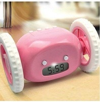 2011 Hot!!!Christmas gift Clocky Run Away Alarm Clock with Wheels free shipping