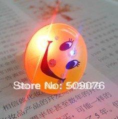 Free shipping 50pcs/lot led ring flashing finger lights flashing smile face ring flashing eye ring(China (Mainland))