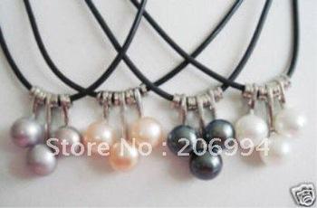 WholesaleBeautiful multicoloured Freshwater pearl pendant Necklace fashion jewelry 10pc/lot