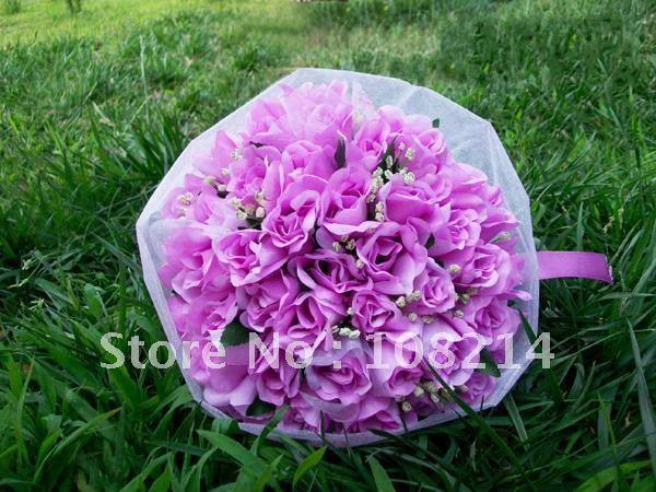 Popular Sale 5 colors Wedding Bouquet for bride artificial flowerBeautiful