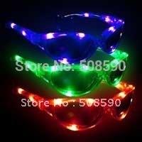 Free Shipping 12pcs/lot late-model led flash glass eyeglasses,Christmas Gift led light Toys for Christmas