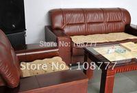 Sofa Mat/Patchwork  Cushion/Countryside style series/car cushion three piece set - Camel