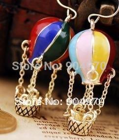 Free Shipping! Wholesale high fashion cute fire balloon earrings, fashion jewelry...