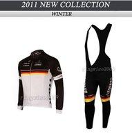 Free Shipping!! WINTER THERMAL FLEECE CYCLING JERSEY+BIB PANTS BIKE SETS CLOTHES  2011 CRAFT LEOPARD TREK-WHITE&B-SIZE:XS-4XL
