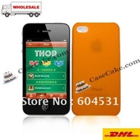 Hot sales Back Case For IPHONE 4  Matte clear case for iPhone 4 +Hongkong post free shipping