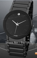 EMS Free shipping Sinobi black men's quartz pointer display wrist watch