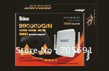 Factory Price  Free Shipping  wireless adapter Black-diamond 990000G/N 58dbi 3800mw usb wireless wifi adapter(China (Mainland))