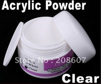 Freeshipping Manicure Supplies Crystal Powder For Acrylic Nail Art Tips Manicure Pedicure Clear Crystal Polymer Powder