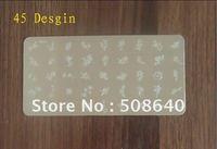 FreeShipping  Nail Art Pro Printing Stamper Image templates 45Desgin Nail Tool Wholesale 095