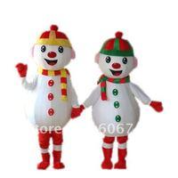 Free Shipping Good Quality Cheap Price Eva head Sponge Body Adult Snowman Mascot Costumes for Christmas