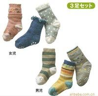 6 designs 30pairs/lot Baby socks infant cotton socks/Girl's Socks