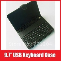 "Компьютерная клавиатура 7 Inch USB Keyboard Leather Cover Case with Keyboard Bracket for Apad Epad Ebook Mid 7"" Tablet PC, +Drop Shipping"