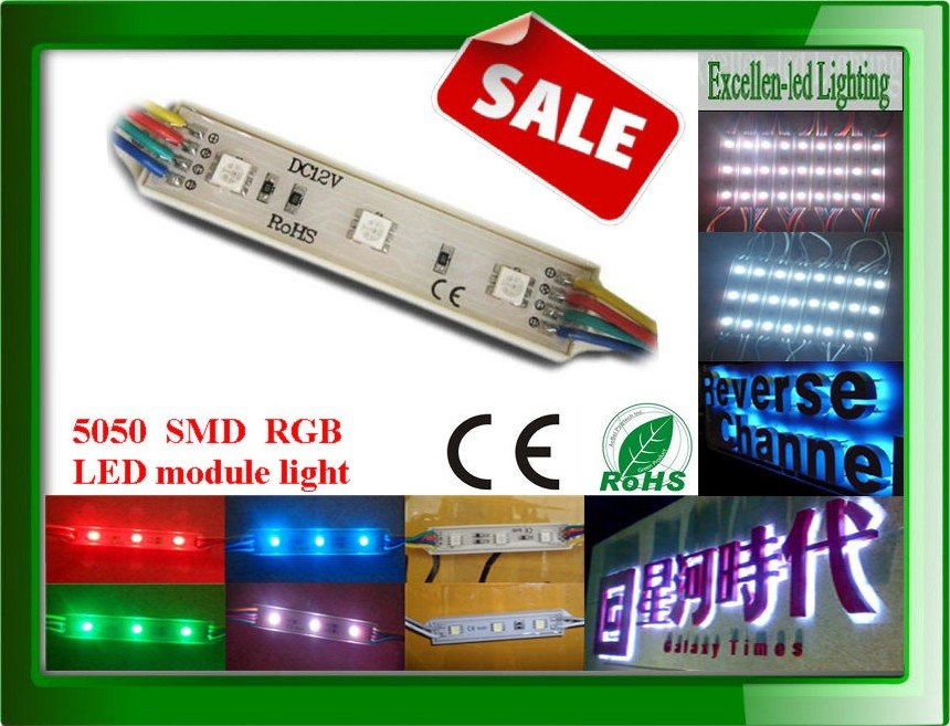 3528 SMD LED module 3leds/pcs hight lumen (LM) for channel letter lighting red green blue yellow warm / day / cool white