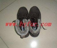FY-XZ011 New Ladies fur one winter shoes