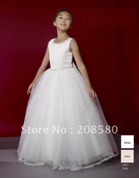 FLOOR LENGTH FLOWER GIRL DRESSES - Sanmaz Kones