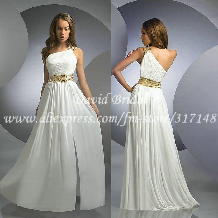 WHITE LONG DRESSES - Gunda Daras