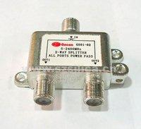 2 way satellite dish cable splitter