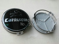 Free shipping  8pcs High quality  black carlsson wheel cover emblem Wheel Central Cover Cap 75MM carlsson car badges