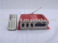4 Channel USB SD + FM With TDA77377 or TDA77277 double Motocycle Amplifier MP3 Remote Control Car Amplifier