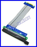 PCI-E PCI Express 16X to 4X Adapter Converter Riser Card Extender Flex Flexible Extension Cable for 1U 2U, Brand New