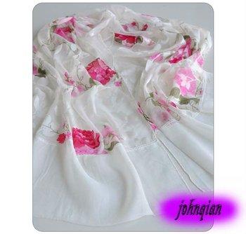 100%SILK 170cmx40cm 21colors ladies shawls scarf  SILK Drape Fashion  women's rectangle patchwork Scarves & Shawls