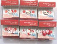 100 PCS  HELLO KITTY 3.5 MM Cartoon Mobile Phone Ear Cap Dust Plug  dust plug for iphone /ipod /ipad lovely ear cap