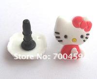 100 PCS  HELLO KITTY 3.5 MM Cartoon Mobile Phone Ear Cap Dust Plug  dust plug for lovely ear cap
