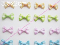 Lot Of 100 Printed Grosgrain  Ribbon Bowknot Butterfly Tie Ribbon Bow For Decoration! Free shipping!