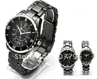 lover's quartz watch lover's quartz wrist watch stainless steel watchband lover's watch 1pair free shipping