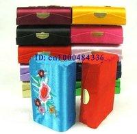 Free shipping! Lot of 30 pcs CHINA HANDMADE EMBROIDERY SILK LIPSTICK BOX