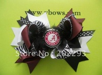 christmas hair bow,with fancy bottle cap,kept in stock,free shipping to your door