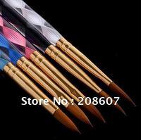 Freeship 5pcs/lot Manicure Professional Crystal Rod Phototherapy Pen Acrylic Nail Art Painting and carving Brush Set Nail Salon