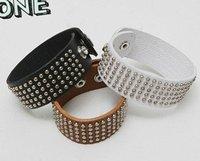 24pcs Women's Chain Girl's Bracelet Leather Belt Rivet leather bracelet Fashion Bangel Bracelet popular promotion cheap