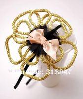 Hair Fashion-Alloy Hollow flower headband,hairbands,hair accessory