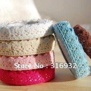New cute color lace Fabric Tape, singal color, 10pcs/lot