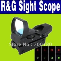 Free Shipping 1pc/lot  Electro Red and Green Dot 4 Reticle Reflex Scope Sight O-671