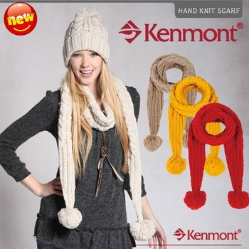 Winter Scarves Kenmont New Arrival Fashion  Brand Wool Scarf 4 Colors Knitted Scarf 1811